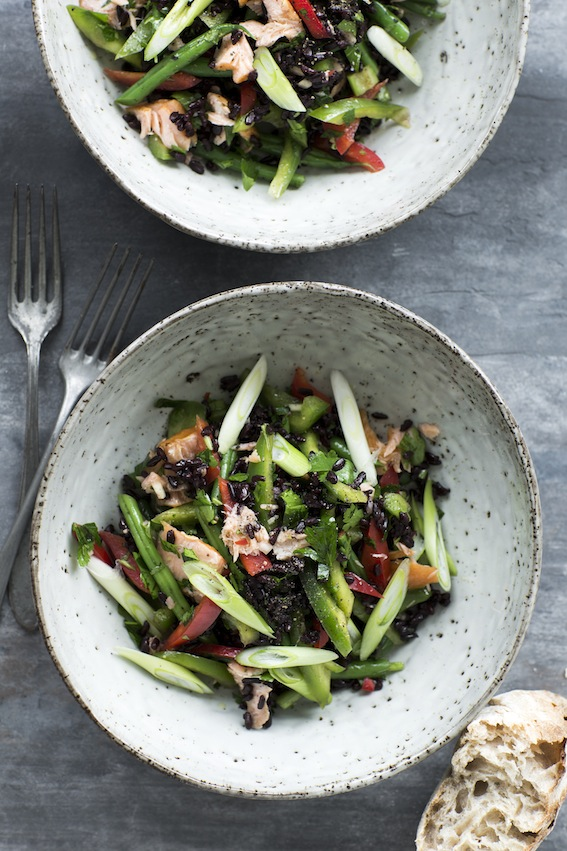 Sorte ris salat